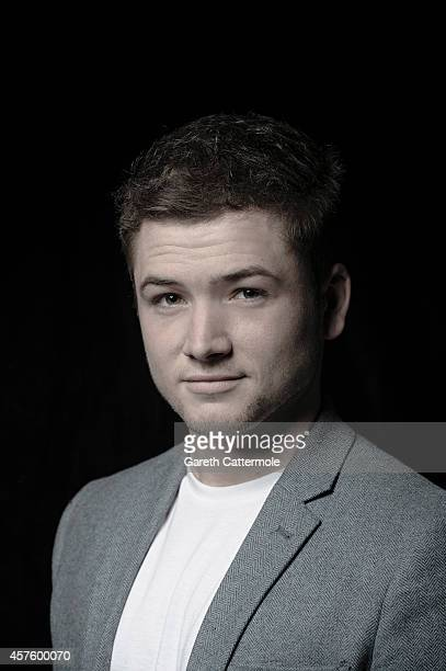 Actor Taron Egerton poses in the portrait studio at the BFI London Film Festival 2014 on October 16 2014 in London England