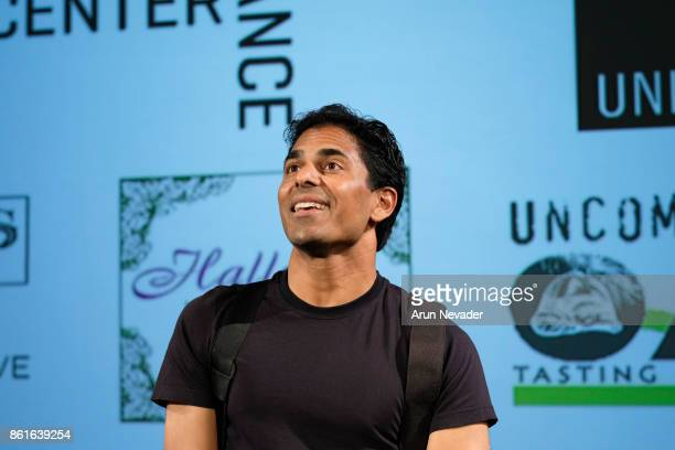Actor Tarun Shetty introduces the film Bobby Khan's Ticket to Hollywood screened at the Santa Cruz Film Festival at Tannery Arts Center on October 14...