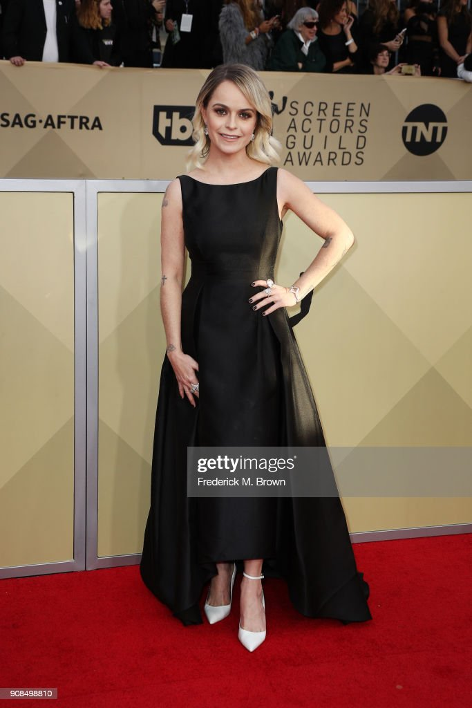 Actor Taryn Manning attends the 24th Annual Screen Actors Guild Awards at The Shrine Auditorium on January 21, 2018 in Los Angeles, California. 27522_017