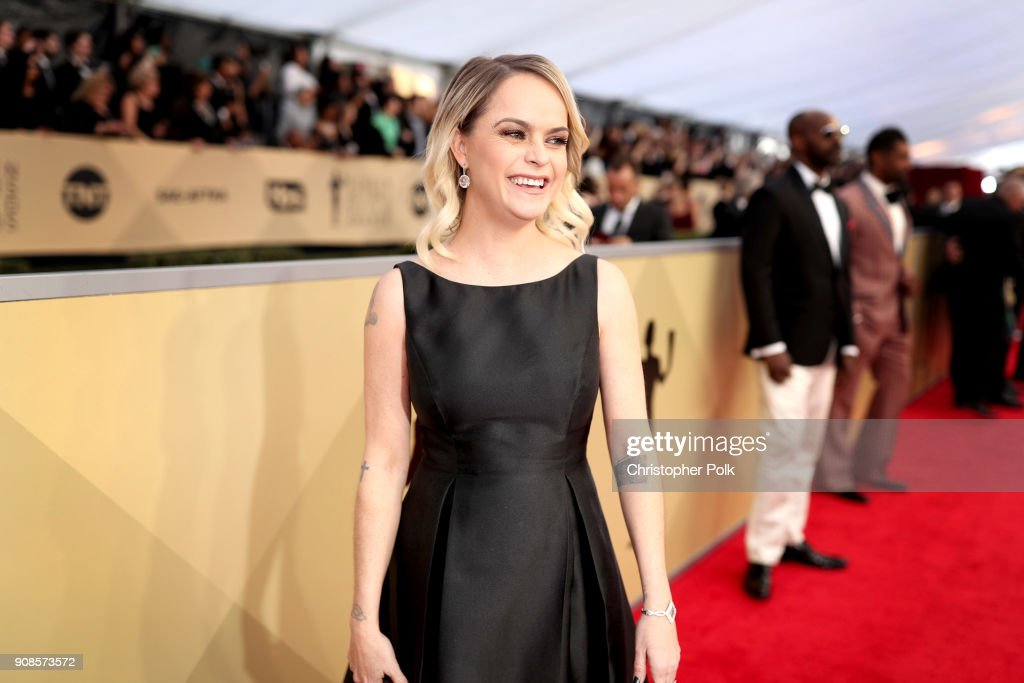 Actor Taryn Manning attends the 24th Annual Screen Actors Guild Awards at The Shrine Auditorium on January 21, 2018 in Los Angeles, California. 27522_010