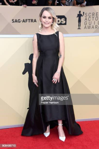 Actor Taryn Manning attends the 24th Annual Screen ActorsGuild Awards at The Shrine Auditorium on January 21, 2018 in Los Angeles, California.
