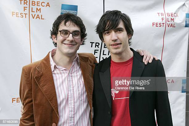 Actor Tate Ellington and producer Emanuel Michael attend the premiere of 'The Elephant King' during the 5th Annual Tribeca Film Festival April 26...