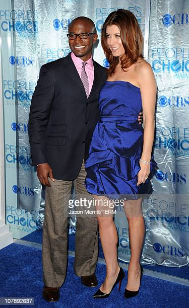 Actor Taye Diggs and actress Kate Walsh arrive at the 2011 People's Choice Awards at Nokia Theatre LA Live on January 5 2011 in Los Angeles California