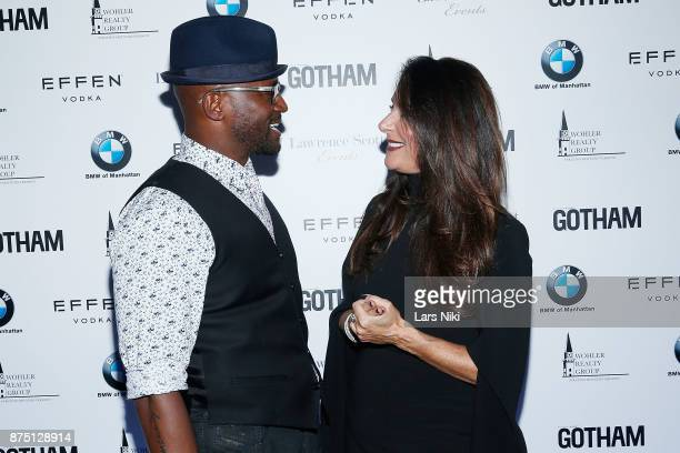 Actor Taye Diggs and Gotham Magazine publisher Lynn Scotti Kassar attend the Gotham Men's Issue Celebration at the BMW of Manhattan Showroom on...