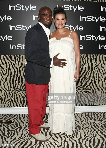 Actor Taye Diggs and singer Idina Menzel arrive at InStyle Magazine's 8th annual Summer Soiree held at the London Hotel on August 20 2009 in West...