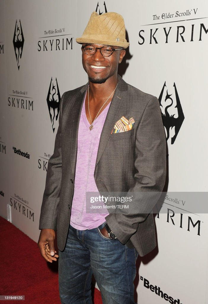 Actor Taye Diggs arrives at the official launch party for the most anticipated video game of the year, The Elder Scrolls