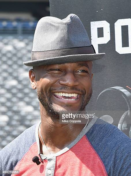 Actor Taye Diggs attends a Duracell interactive tour of MetLife Stadium on August 27, 2014 in East Rutherford, New Jersey.