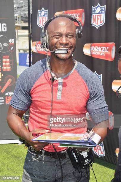 Actor Taye Diggs attends an interactive tour of MetLife Stadium on August 27 2014 in East Rutherford New Jersey