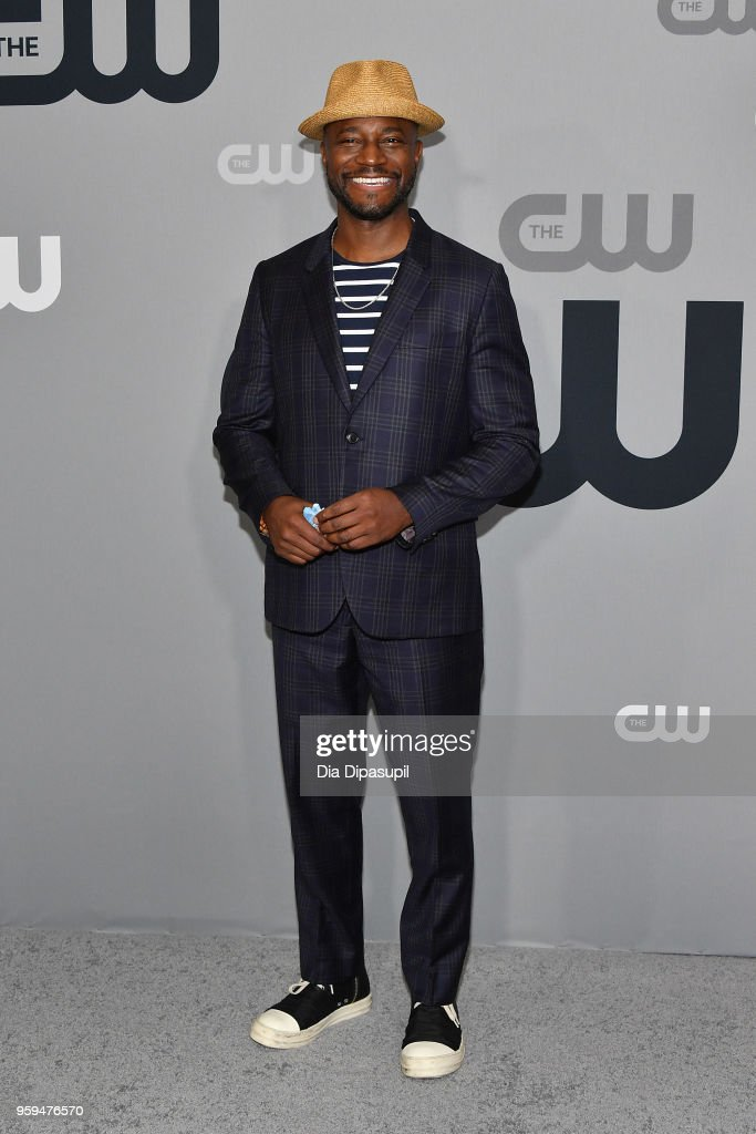 Actor Taye Diggs attends the 2018 CW Network Upfront at The London Hotel on May 17, 2018 in New York City.