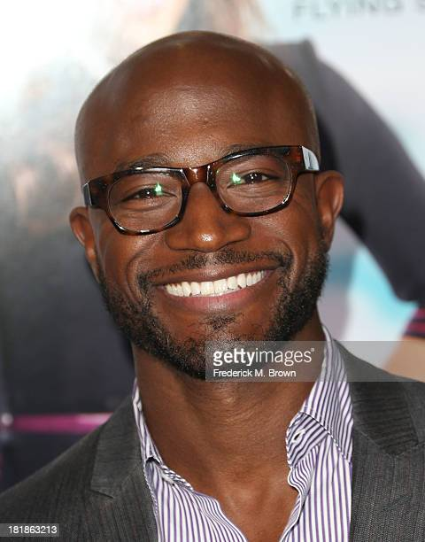 Actor Taye Diggs attends the premiere of Fox Searchlight Pictures' Baggage Claim at the Regal Cinemas LA Live on September 25 2013 in Los Angeles...