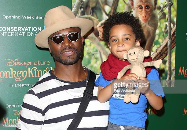 Actor Taye Diggs attends the premiere of Monkey Kingdom at the Pacific Theaters at the Grove on April 12 2015 in Los Angeles California