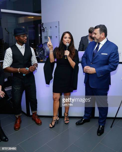 Actor Taye Diggs Gotham Magazine publisher Lynn Scotti Kassar and Arturo Pineiro attend the Gotham Men's Issue Celebration at the BMW of Manhattan...