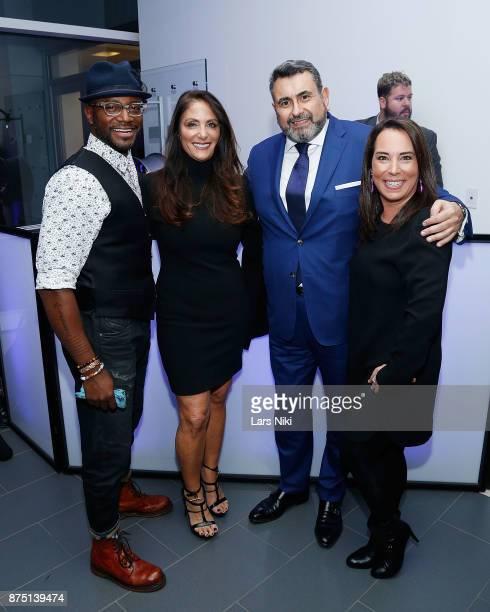 Actor Taye Diggs Gotham Magazine publisher Lynn Scotti Kassar Arturo Pineiro and Samantha Yanks attend the Gotham Men's Issue Celebration at the BMW...