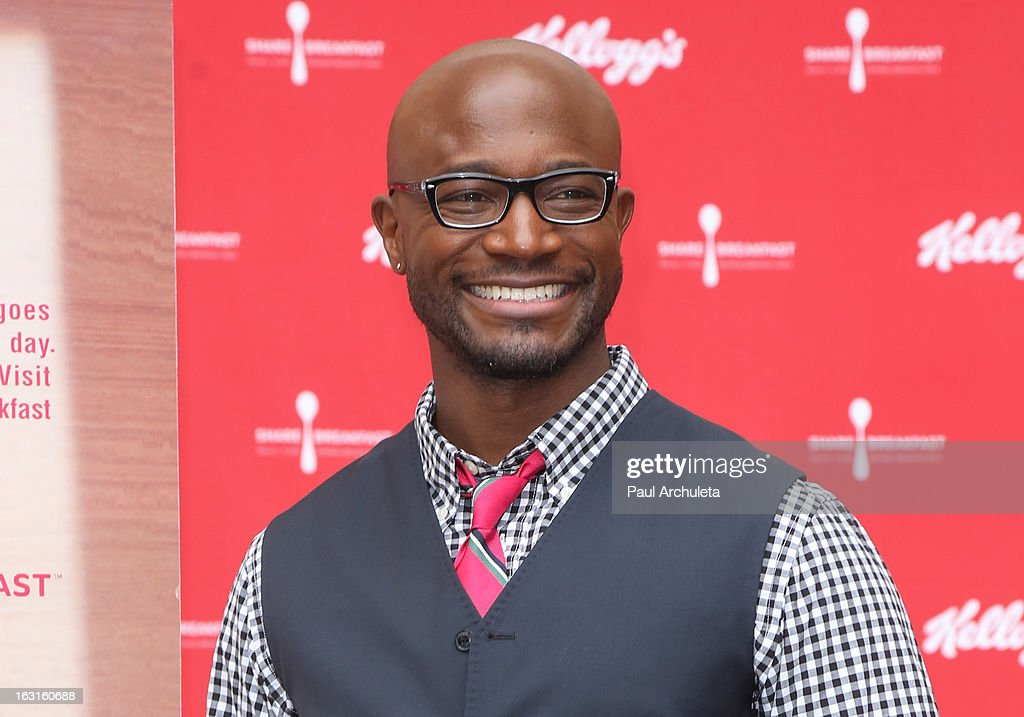 Actor Taye Diggs unveils his first ever Got Milk mustache ad at Hollywood & Highland Courtyard on March 5, 2013 in Hollywood, California.