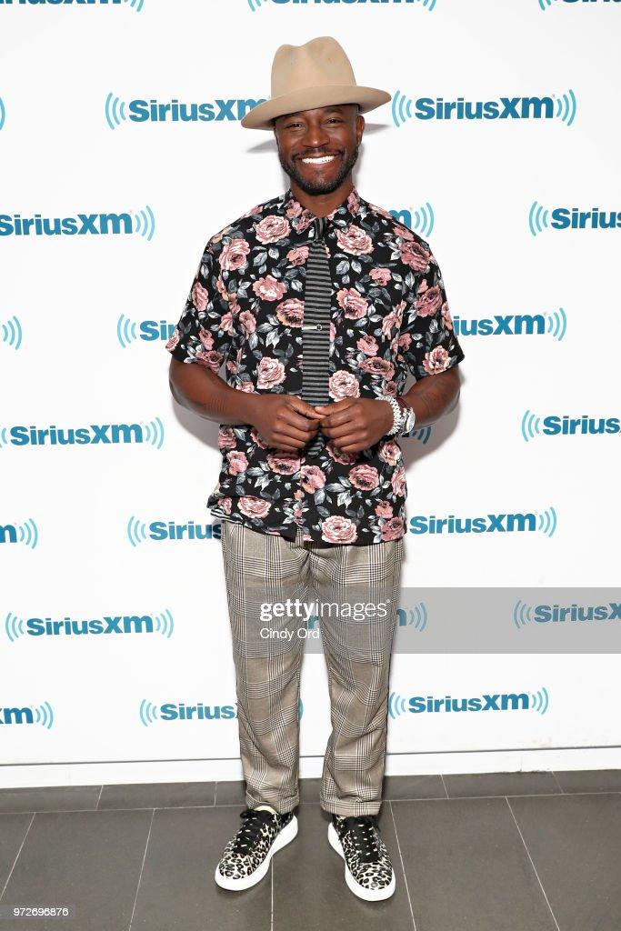 Actor Taye Diggs visits the SiriusXM Studios on June 12, 2018 in New York City.
