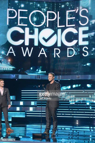 Actor Taylor Kinney accepts an award onstage during the People's Choice Awards 2016 at Microsoft Theater on January 6 2016 in Los Angeles California