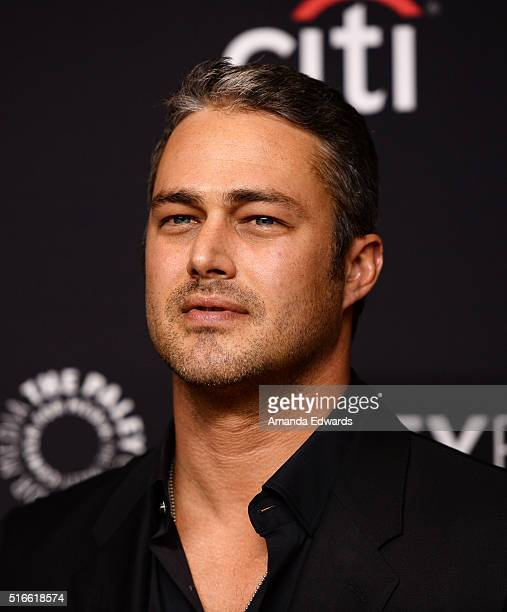 Actor Taylor Kinney arrives at The Paley Center For Media's 33rd Annual PaleyFest Los Angeles Stars of Law and Order SVU Chicago Fire Chicago PD and...