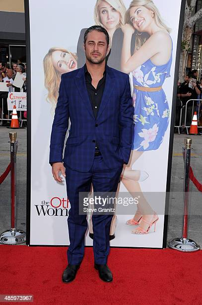 Actor Taylor Kinney attends the Los Angeles premiere of 'The Other Woman' at Regency Village Theatre on April 21 2014 in Westwood California