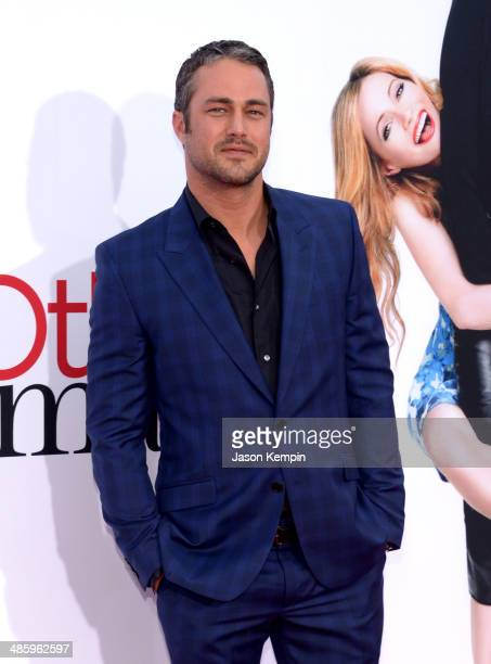 Actor Taylor Kinney attends the premiere of Twentieth Century Fox's 'The Other Woman' at Regency Village Theatre on April 21 2014 in Westwood...