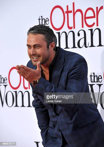 """Actor Taylor Kinney attends the premiere of Twentieth Century Fox's """"The Other Woman"""" at Regency Village Theatre on April 21, 2014 in Westwood,..."""