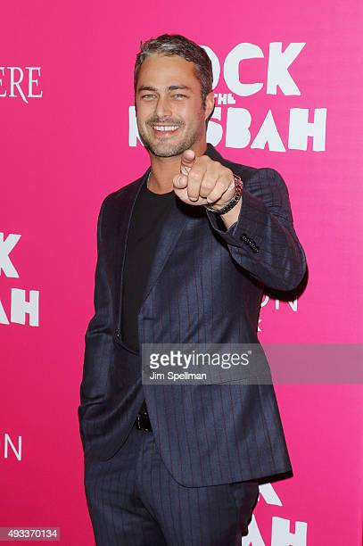 Actor Taylor Kinney attends the 'Rock The Kasbah' New York premiere at AMC Loews Lincoln Square on October 19 2015 in New York City