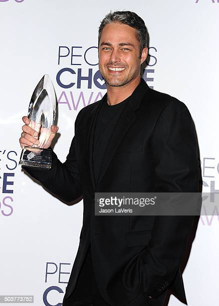 Actor Taylor Kinney poses in the press room at the 2016 People's Choice Awards at Microsoft Theater on January 6 2016 in Los Angeles California