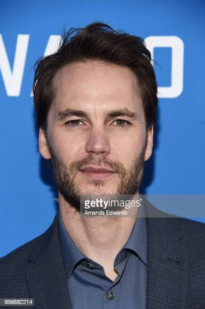 Actor Taylor Kitsch arrives at the Academy of Television Arts and Sciences' screening of WACO at the Sherry Lansing Theatre at Paramount Studios on...