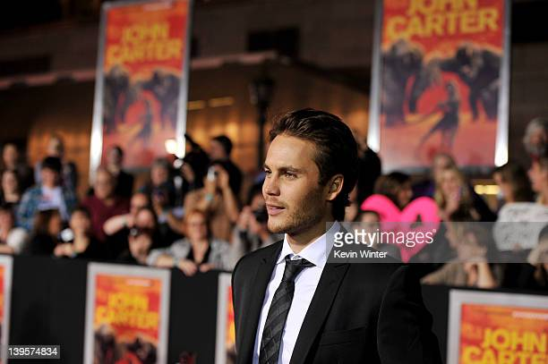 Actor Taylor Kitsch arrives at the premiere of Walt Disney Pictures' John Carter at the Regal Cinemas LA Live Stadium 14 on February 22 2012 in Los...