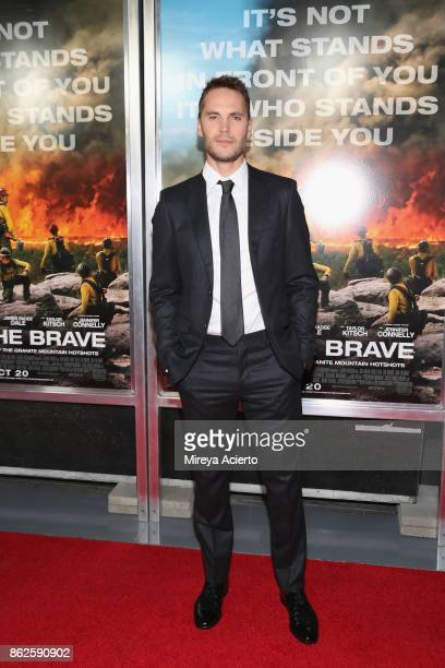 Actor Taylor Kitsch attends Only The Brave New York screening at iPic Theater on October 17 2017 in New York City