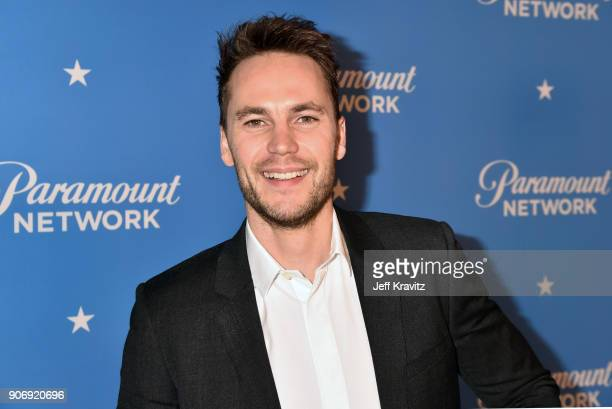 Actor Taylor Kitsch attends Paramount Network Launch Party at Sunset Tower on January 18 2018 in Los Angeles California