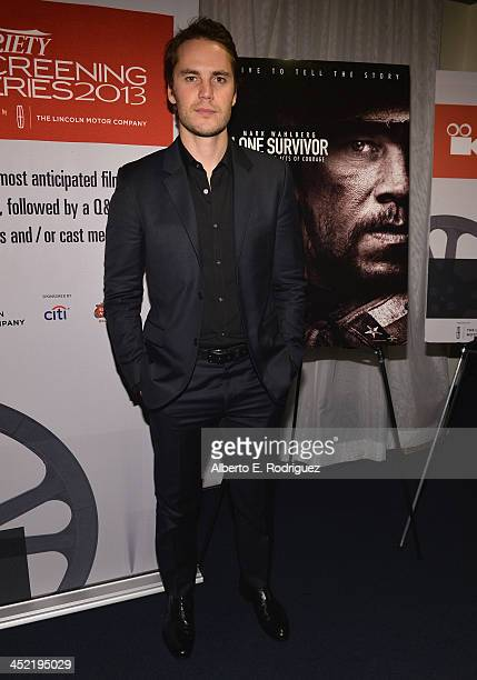 Actor Taylor Kitsch attends the 2013 Variety Screening series of Lone Survivor at ArcLight Cinemas on November 26 2013 in Hollywood California