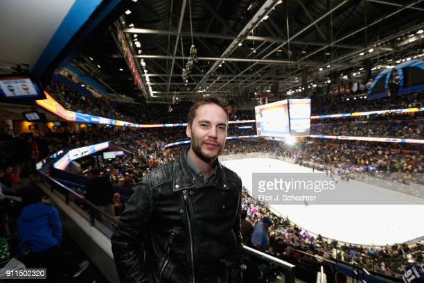 Actor Taylor Kitsch attends the 2018 Honda NHL AllStar Game at Amalie Arena on January 28 2018 in Tampa Florida