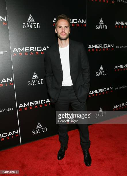 Actor Taylor Kitsch attends The Cinema Society Saved wines screening of CBS Films' American Assassin at iPic Theater on September 6 2017 in New York...
