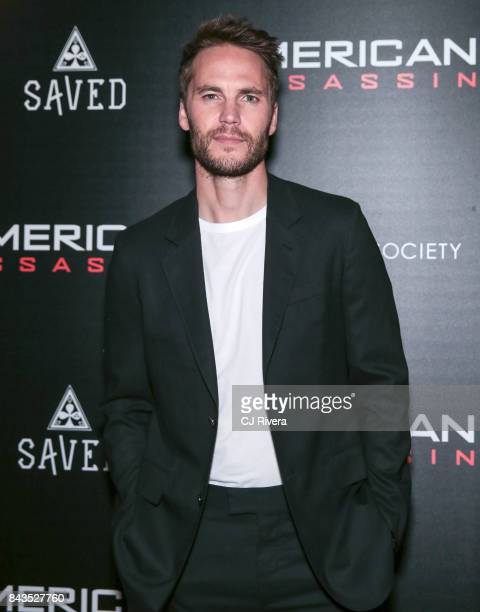 Actor Taylor Kitsch attends The Cinema Society Saved Wines screening of CBS Films' 'American Assassin' at iPic Theater on September 6 2017 in New...