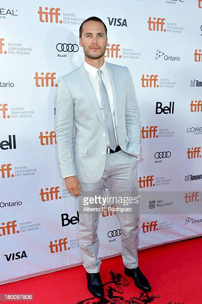 Actor Taylor Kitsch attends The Grand Seduction premiere during the 2013 Toronto International Film Festival at Roy Thomson Hall on September 8 2013...