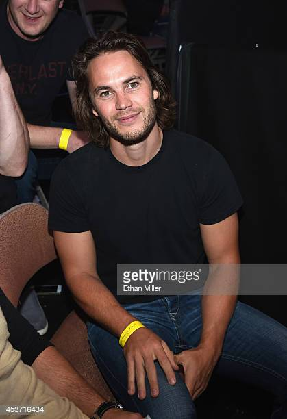 Actor Taylor Kitsch attends the inaugural event for BKB Big Knockout Boxing at the Mandalay Bay Events Center on August 16 2014 in Las Vegas Nevada