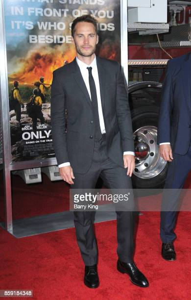 Actor Taylor Kitsch attends the premiere of Columbia Pictures' 'Only The Brave' at Regency Village Theatre on October 8 2017 in Westwood California