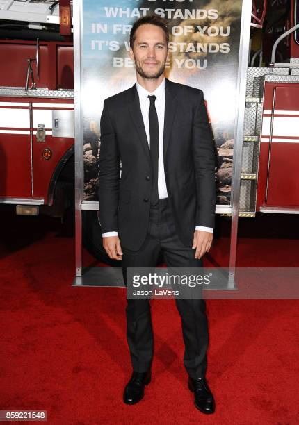 Actor Taylor Kitsch attends the premiere of 'Only the Brave' at Regency Village Theatre on October 8 2017 in Westwood California