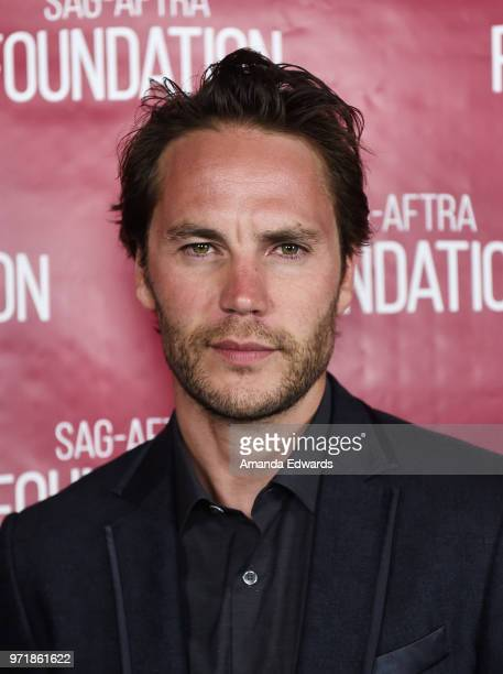 Actor Taylor Kitsch attends the SAGAFTRA Foundation Conversations screening of 'Waco' at the SAGAFTRA Foundation Screening Room on June 11 2018 in...