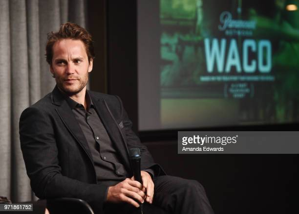 Actor Taylor Kitsch attends the SAGAFTRA Foundation Conversations screening of Waco at the SAGAFTRA Foundation Screening Room on June 11 2018 in Los...