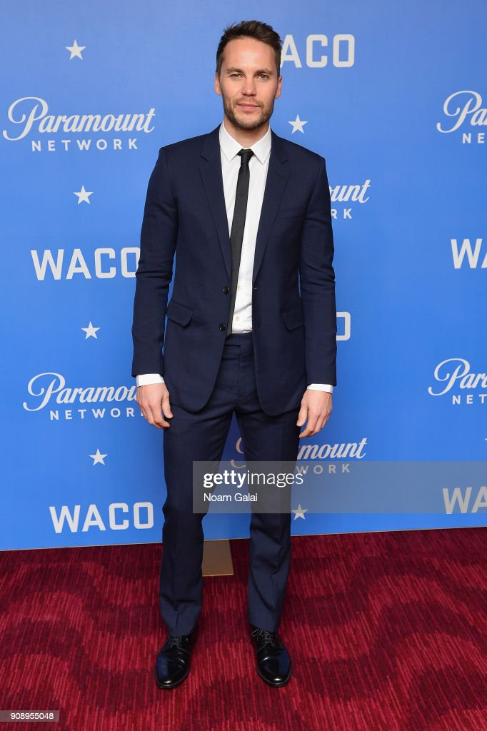 Actor Taylor Kitsch attends the world premiere of WACO presented by Paramount Network at Jazz at Lincoln Center on January 22, 2018 in New York City.