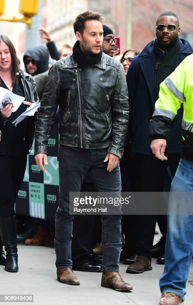 Actor Taylor Kitsch is seen in NoHo on January 22 2018 in New York City