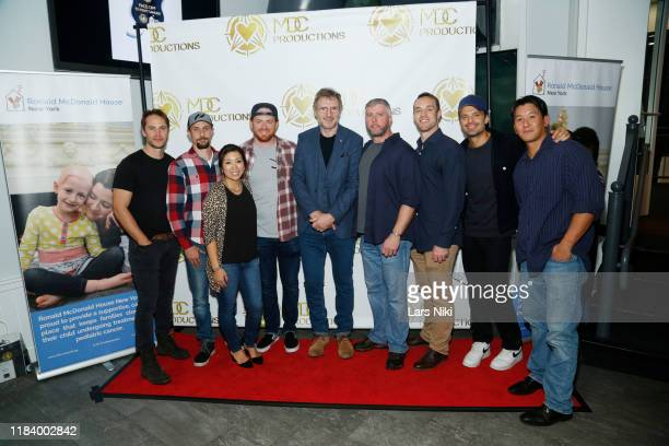 Actor Taylor Kitsch, MDC Productions founder Meagan Celeste, actor Liam Neeson and actor Sebastian Stan attend the MDC Productions' 3rd Annual Face...
