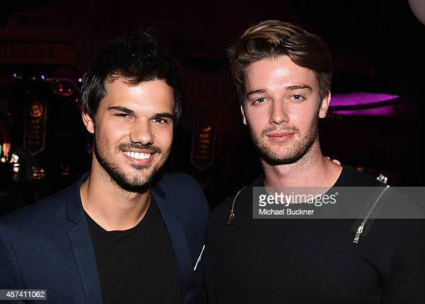 Actor Taylor Lautner and Patrick Schwarzenegger attend the 3rd Annual Hilarity for Charity Variety Show to benefit the Alzheimer's Association...