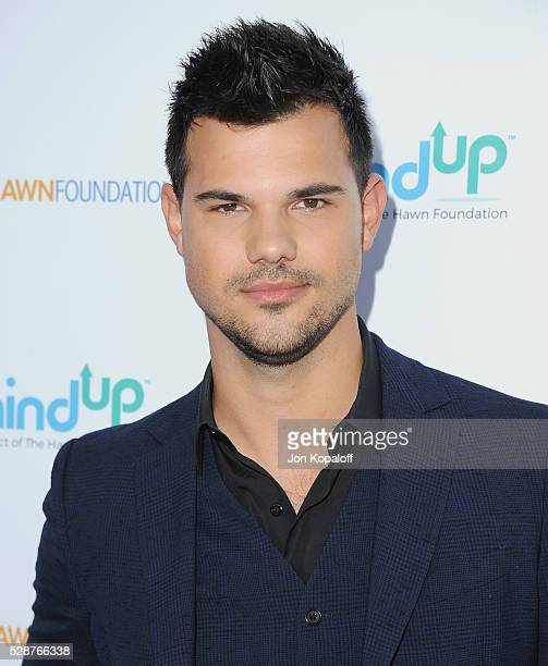 Actor Taylor Lautner arrives at Goldie Hawn And Kurt Russell Host Annual Goldie's Love In For Kids at Ron Burkle's Green Acres Estate on May 6 2016...