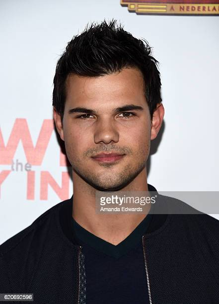 Actor Taylor Lautner arrives at the Opening Night of 'Hedwig and The Angry Inch' at the Pantages Theatre on November 2 2016 in Hollywood California