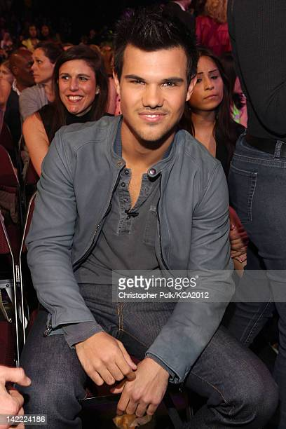 Actor Taylor Lautner at Nickelodeon's 25th Annual Kids' Choice Awards held at Galen Center on March 31 2012 in Los Angeles California