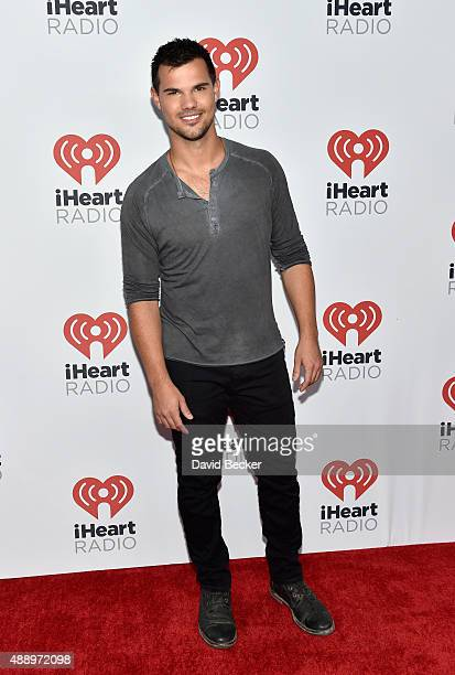 Actor Taylor Lautner attends the 2015 iHeartRadio Music Festival at MGM Grand Garden Arena on September 18 2015 in Las Vegas Nevada