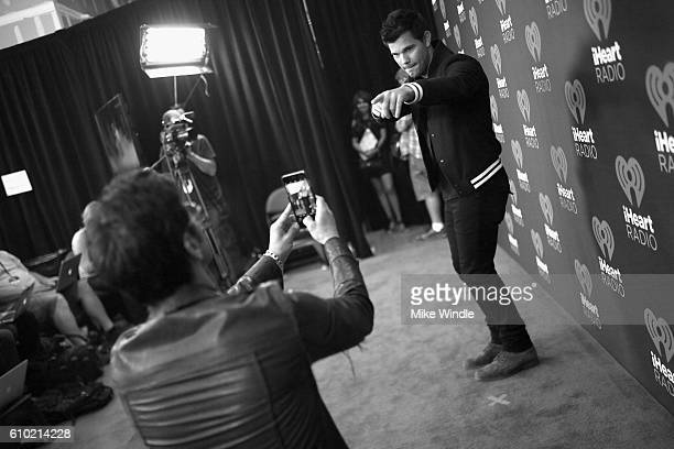 Actor Taylor Lautner attends the 2016 iHeartRadio Music Festival at TMobile Arena on September 24 2016 in Las Vegas Nevada