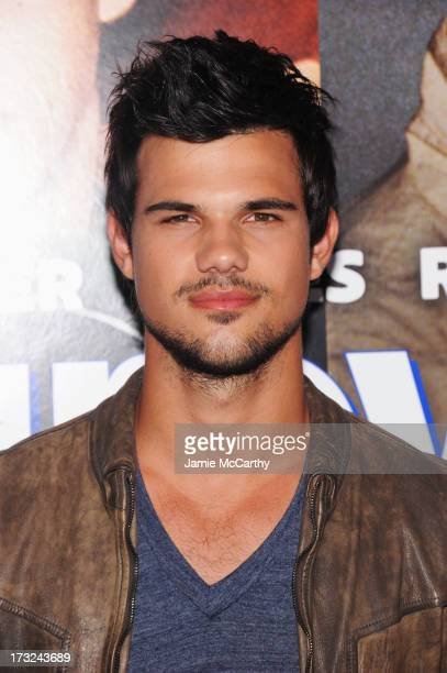 Actor Taylor Lautner attends the 'Grown Ups 2' New York Premiere at AMC Lincoln Square Theater on July 10 2013 in New York City